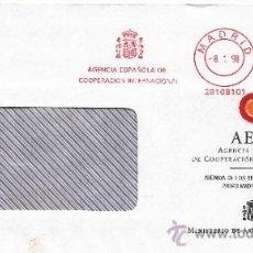 Sellos: FRANQUEO MECANICO ,28168101 MADRID, AGENCIA ESPAÑOLA DE COOPERACION INTERNACIONAL . Lote 38187521