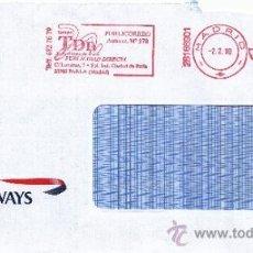 Sellos: FRANQUEO MECANICO ,28166901 MADRID, COLABORADORA, BRITISH AIRWAYS, . Lote 38187545