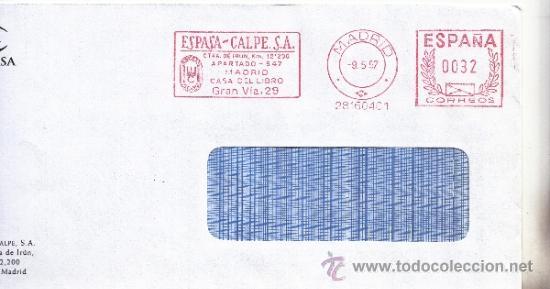 FRANQUEO MECANICO ,28160401 MADRID, ESPASA - CALPE, S.A. (Sellos - Historia Postal - Sello Español - Sobres Circulados)