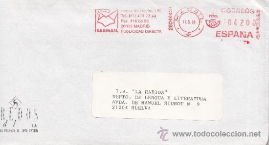 FRANQUEO MECANICO ,28049401 MADRID, COLABORADORA, GREDOS, S.A., (Sellos - Historia Postal - Sello Español - Sobres Circulados)