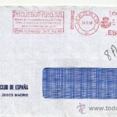 Sellos: FRANQUEO MECANICO ,28045602 MODIFICADO MADRID, COLABORADORA, RACE, REAL AUTOMOVIL CLUB DE ESPAÑA . Lote 38212236