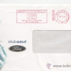 Sellos: FRANQUEO MECANICO ,28035810 EURO MADRID, COLABORADORA, CLUBAZUL FORD . Lote 38212341