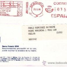 Sellos: FRANQUEO MECANICO ,28019803 MADRID, COLABORADORA, . Lote 38212541