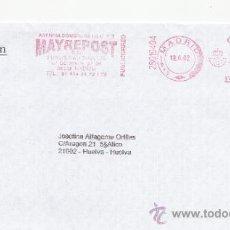 Sellos: FRANQUEO MECANICO ,28019404 EURO MADRID, COLABORADORA, ELIZABETH ARDEN . Lote 38212557