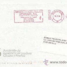 Sellos: FRANQUEO MECANICO ,28017003 EURO MADRID, COLABORADORA, ASOCIACION INGENIEROS CAMINOS CANALES Y PUERT. Lote 38212584