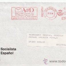 Sellos: FRANQUEO MECANICO ,28010702 MADRID, COLABORADORA, PARTIDO SOCIALISTA OBRERO ESPAÑOL, . Lote 38212639