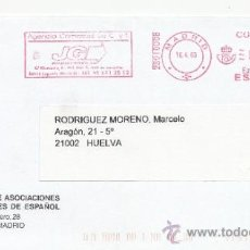 Sellos: FRANQUEO MECANICO ,2801008 EURO MADRID, COLABORADORA, FEDERACION ASOCIACIONES PROFESORES DE ESPAÑOL. Lote 38212662