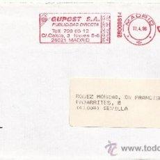 Sellos: FRANQUEO MECANICO ,28009814 MADRID, COLABORADORA, PROTEL, . Lote 38212777