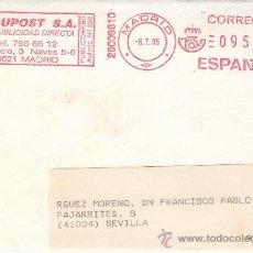 Sellos: FRANQUEO MECANICO ,28009810 MADRID, COLABORADORA,. Lote 38212786