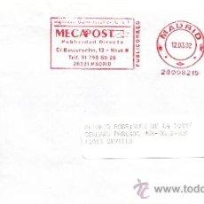 Sellos: FRANQUEO MECANICO ,28008215 EURO MADRID, COLABORADORA, ARTESANOS CAMISEROS, . Lote 38227048