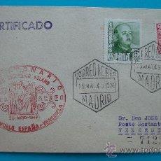 Sellos: SOBRE PRIMER VUELO ESPAÑA VENEZUELA MAYO DE 1949, MADRID - CARACAS. Lote 38180765