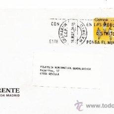 Sellos: ETIQUETA ATMS S/Nº C.2. 3 MADRID CHAMARTIN C.C.P. MATº RODILLO . Lote 38250068