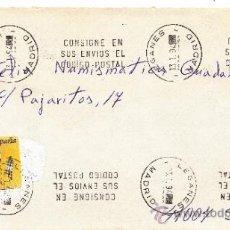 Sellos: ETIQUETA ATMS S/Nº C.2. 3 LEGANES (MADRID) MATº RODILLO DOBLE . Lote 38250082