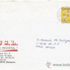 Sellos: ETIQUETA ATMS Nº 1557 C.2. 3 ZARAGOZA C.C.P. EL PORTILLO MATº RODILLO . Lote 38250592