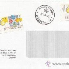 Sellos: ETIQUETA ATMS Nº 3428 Y CERTIFICADO C.2. 22 ZARAGOZA -50- CORREOS Y TELEGRAFOS MATº FECHADOR . Lote 38425149