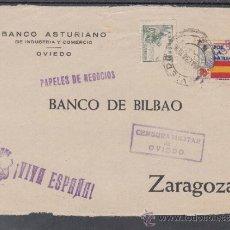 Sellos: .476A FRONTAL OVIEDO A ZARAGOZA, FRANQUEO Y LOCAL G 86 VARIEDAD GRIS, MATº EN ANVERSO POSTERIOR A +. Lote 38422881