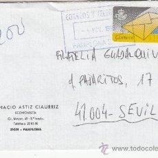 Sellos: ETIQUETA ATMS Nº 0910 C.2. 4 PAMPLONA SUC. 2 CORREOS Y TELEGRAFOS MATº TAMPON . Lote 38614901