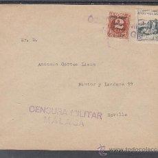 Sellos - .603 sobre malaga a sevilla, franqueo patriotico malaga 8 y local g 426 matº, censura m-7-6d - 38719421
