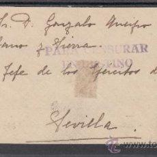 Sellos - .603e frontal malaga a sevilla, franqueo patriotico malaga 18 matº, censura m-7-1 para censurar en + - 38719640