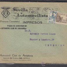 Sellos: .607F SOBRE SEVILLA(INTERIOR), FRANQUEO 816 Y LOCAL G675 MATº, MEMBRETE AUTOMOVIL CLUB DE ANDALUCIA. Lote 39360530
