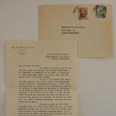 Sellos: CARTA A MAQUINA FIRMADA POR EL DIBUJANTE DE MANRESA, LUIS COMALLONGA GORGUES+SOBRE CIRCULADO 1955 . Lote 38577346