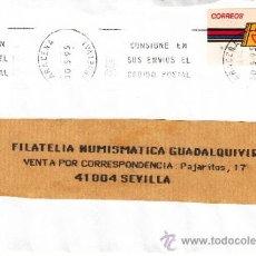 Sellos: ETIQUETA ATMS Nº 0754 C.2. 2 ARACENA (HUELVA) MATº RODILLO CONSIGNE EN SUS ENVIOS EL CODIGO POSTAL . Lote 38652408