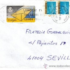 Sellos: ETIQUETA ATMS S/Nº C.2. 4 Y SELLOS VILLAGARCIA DE AROSA (PONTEVEDRA) MATº RODILLO CONSIGNE EN SUS . Lote 38648246