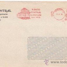 Sellos: FRANQUEO MECANICO 10678 MADRID, BANCO CENTRAL DPTO. ORGANIZACION . Lote 38715639