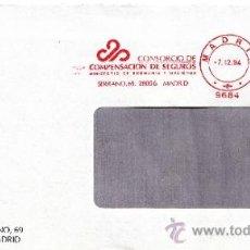 Sellos: FRANQUEO MECANICO 9684 MADRID, CONSORCIO DE COMPENSACION DE SEGUROS, MINISTERIO DE ECONOMIA Y HACIE. Lote 38715899