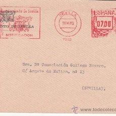 Sellos: FRANQUEO MECANICO 7562 SEVILLA, AYUNTAMIENTO DE SEVILLA, NOTIFICACION. Lote 38716495