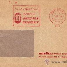 Sellos: FRANQUEO MECANICO 7328 BARCELONA, COLAS Y ADHESIVOS, ELOTEX, BRIGATEX, SEMPAKIT, . Lote 38716631
