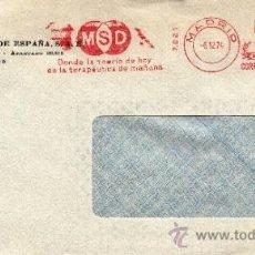 Sellos: FRANQUEO MECANICO 7021 MADRID, M S D, DONDE LA TEORIA DE HOY ES LA TERAPEUTICA DE MAÑANA, . Lote 38724673