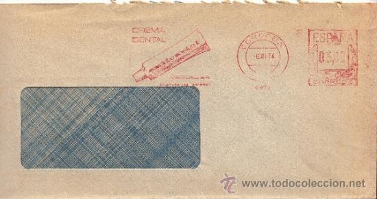 FRANQUEO MECANICO 6973 CORDOBA, CREMA DENTAL ANTICARIOL, MEDICAL, S.A. (Sellos - Historia Postal - Sello Español - Sobres Circulados)