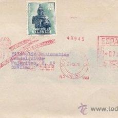 Sellos: FRANQUEO MECANICO 5569 VALENCIA(45), FERIA MUESTRARIO INTERNACIONAL VALENCIA, SOBRE-TASA EN SELLOS. Lote 211653491
