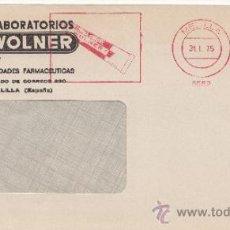 Sellos: FRANQUEO MECANICO 5552 MELILLA, CREMA DENTAL WOLNER . Lote 38726739