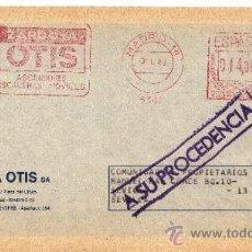 Sellos: FRANQUEO MECANICO 5341 MADRID (14), ZARDOYA OTIS, ASCENSORES, ESCALERAS MOVILES, . Lote 38726801