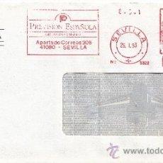 Sellos: FRANQUEO MECANICO 5322 SEVILLA, PREVISION ESPAÑOLA, GRUPO ASEGURADOR, . Lote 38726813