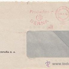 Sellos: FRANQUEO MECANICO 4899 MADRID, SB, PRODUCTOS BERNA. Lote 38726878