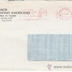 Sellos: FRANQUEO MECANICO 4841 MODIFICADO MADRID, NUESTROS CHEQUES DE VIAJES SON DINERO EN TODA ESPAÑA, BHA. Lote 38726897