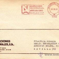 Sellos: FRANQUEO MECANICO 11740 BARCELONA, AN, ACUÑACIONES NACIONALES, S.A., ARTE EN ORO, . Lote 38730478