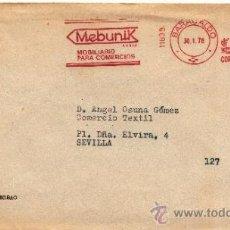 Sellos: FRANQUEO MECANICO 11839 BARACALDO (BILBAO), MEBUNIK MOBILIARIO PARA COMERCIO, . Lote 38730494