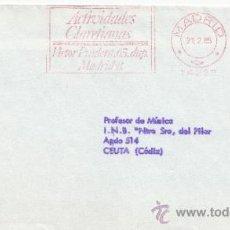 Sellos: FRANQUEO MECANICO 14232 MADRID, ACTIVIDADES CLARETIANAS . Lote 38746611