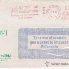Sellos: FRANQUEO MECANICO 15224 MADRID, BS, BANCO DE SANTANDER, LA MAYOR RED BANCARIA ESPAÑOLA EN EL EXTRANJ. Lote 38746951