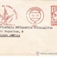 Sellos: FRANQUEO MECANICO 15903 LOGROÑO, LA UNION Y EL FENIX, . Lote 38747113