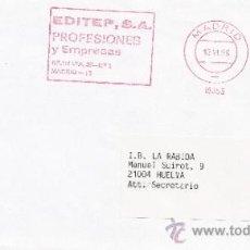 Sellos: FRANQUEO MECANICO 16858 MADRID, EDITEP, S.A., PROFESIONALES Y EMPRESAS, . Lote 38759510