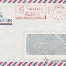 Sellos: FRANQUEO MECANICO 17098 MODIFICADO MADRID, COLABORADORA, WELCOME TO BRITAIN . Lote 38759916