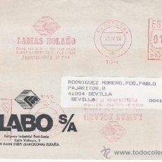 Sellos: FRANQUEO MECANICO 17546 DOBLE MODIFICADO BARCELONA, LAMAS BOLAÑO,. Lote 38760035