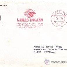 Sellos: FRANQUEO MECANICO 17546 MODIFICADO BARCELONA, LAMAS BOLAÑO,. Lote 38760044