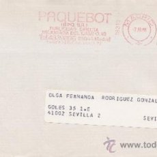 Sellos: FRANQUEO MECANICO 18310 MADRID, COLABORADORA, BEX, BANCO EXTERIOR DE ESPAÑA,,. Lote 38770810