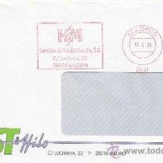 Sellos: FRANQUEO MECANICO 21987 MADRID, HM, SERVICIOS DE TELEDISTRIBUCION, S.A. . Lote 38771125
